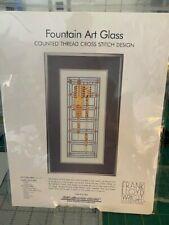Heartland House Frank Lloyd Wright Fountain Art Glass Cross Stitch Design