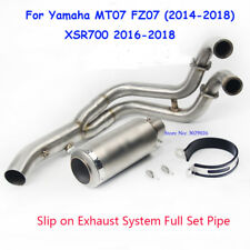 Motorcycle Exhaust System Pipe Link Connect Tip For Yamaha FZ-07 MT-07 XSR700