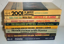 Arthur C Clarke Science Fiction paperback book lot of 8