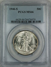 1946-S Walking Liberty Silver Half Dollar 50c Coin PCGS MS-66 Toned Rev MLH