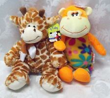 Peek A Boo Monkey Giraffe Love Flower Power Toy Factory Plush Velvet Grabber New