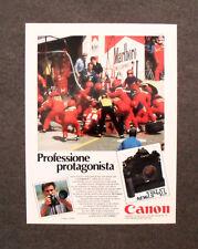 [GCG] M999 - Advertising Pubblicità - 1984 - CANON F 1 ,PROFESSIONE PROTAGONISTA