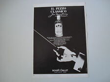 advertising Pubblicità 1966 ROGER & GALLET JEAN MARIE FARINA