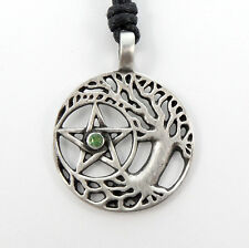Druid Tree of Life Pentagram Pentacle Wiccan Necklace Pagan Gothic Pendant
