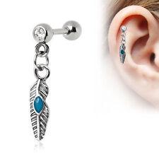 Turquoise Ear 16g (1.2 mm) Body Piercing Jewellery