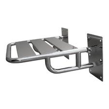 Duschklappsitz aus Edelstahl für barrierefreies Bad mit Wandstützen Dusch