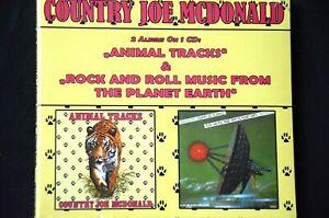 Country Joe McDonald Animal Tracks/Rock And Roll Music From ..2 on 1 Digipak CD