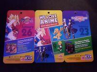 We Love Anime Gamestop Plastic Display Advertising Cards