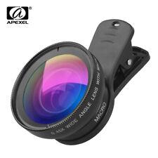 Phone Lens Kit 0.45x Super Wide Angle 12.5x Super Macro HD Camera Lentes iPhone