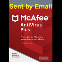 Mcafee Antivirus+Firewall  2020 1 Device 1 Year 2019 Sent by email