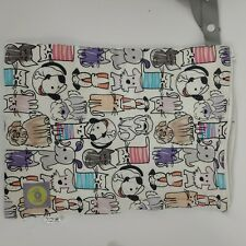 """Itzy Ritzy travel happens Sealed Wet Bag cats and dogs  10.5"""" x 14"""" zipper close"""