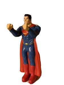 """DC Comics S16 Super Man Figure 8"""" Tall Blue Red Moves Arms And Heard F14"""