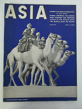 June 1940 ASIA MAGAZINE Russia & Arctic, Middle East, Japan, Buddhist Funeral