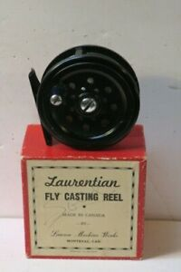 """Vintage Fly Reel  Laurentian 3""""  new in box Made in Canada"""