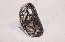 Ring elegant NEU silber 57 Gr. L 18,1mm breit Vintage Retro Orient Ethno Inka
