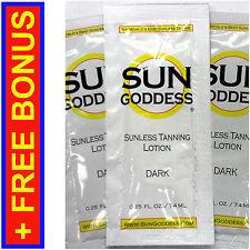 Sun Goddess - Sunless Self Tanning Lotion - DARK .25 oz * Mitt * Gloves * Lotion