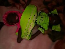 Topsy Turvy Doll Lot # 1 Hot Pink/Hot Green Hand made by Ginger Girl Dolls