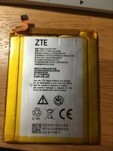 ZTE battery for ZTE max pro, 3990mAh. used, works well.
