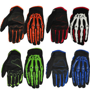 Ghost Skeleton Skull Bone Cycling Outdoor Sport Racing Bicycle Motorcycle Gloves