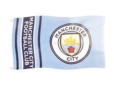 Manchester City Official Flag 5ft X 3ft Large Banner152cmX91cm MCFC Blue