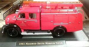 1961 Magirus-Deutz Merkur TLF16 Fire Engine  - 1:43 scale, Red