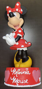"""Disney Minnie Mouse 10"""" Children's Bank Used.    A1"""