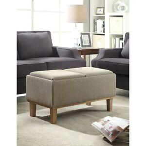 Convenience Concepts Designs4Comfort Brentwood Storage Ottoman, Sand - 143900
