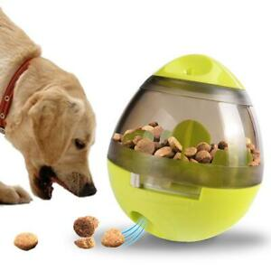 Food Dispenser Pet Dog Cat Interactive Ball Toy Treat Tumbler Feeder Best Play