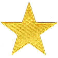 Embroidered Small Gold Star Sew or Iron on Patch Biker Patch