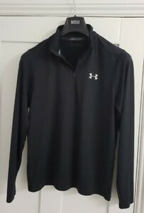 Under Armour Heatgear Fitted Half Zip Activewear Top Size Large