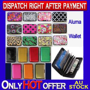 Aluma Wallet Unisex Credit Card Holder Aluminum Case As Seen On TV Multi Color