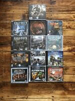 Lot of 13 PC Computer Games WAR GAMES, Call Of Duty, Battlefield, Medal Of Honor