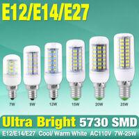 E12 E14 E27 Bulb Lamp 5730 SMD LED Light Corn Lamp Effective 110/220V 7/9/15/25W
