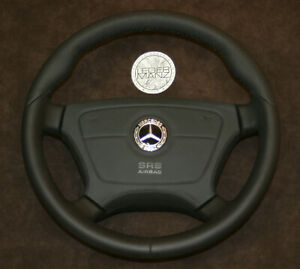 Mercedes Benz OEM Custom Steering Wheel Thick Soft W140 W124 W202 R170 R129 AMG