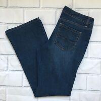Covington Petite Women's Straight Leg Stretch Denim Blue Jeans Size 8P