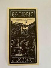 Ex-libris Alsace J. JOURNET (Colonel à Colmar) pour Jacqueline Journet, 100 x 50