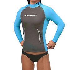 Aqua Sphere Womens Swim Skin Long Sleeve High Neck Surf Shirt Rashguard Large