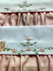 Linea Valentino N 6 Asciugamani Puro Cotone Ricamo a Mano