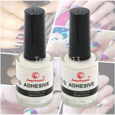 2PCS x8ML Nail Glue For Transfer Foil Sticker Decals Polish UV Gel Glue Adhesive