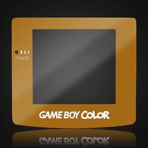 Game Boy Color Screen Lens Glass Gold Nintendo Adhesive