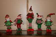 Set OF 5 STANDING ELVES Elf Christmas