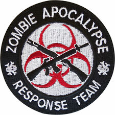 Zombie Apocalypse Response Team Embroidered Patch Badge Sew Iron On Bag Applique