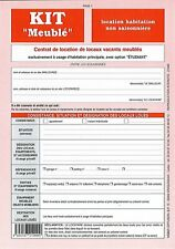 """Contrat de location """"meublé non saisonnier"""""""