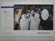 4/1990 PUB MATRA MARCONI SPACE SATELLITE SPOT METEOSAT TELECOM ORIGINAL AD