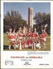 1967 Nebraska-Colorado Program Buffs Ease Past Huskers Big 8 Showdown NICE!!
