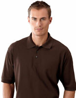 UltraClub Men's Split Tail Double Needle Short Sleeve Pique Polo Shirt. 8540