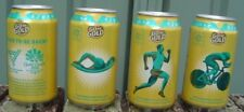 XXXX 2018 Commonwealth Games Gold Beer set 4 all Empty Opened at Base Great