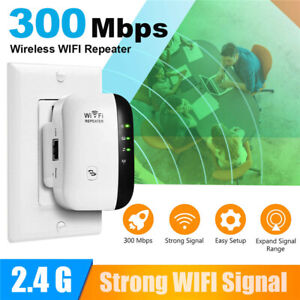 300M WiFi Range Extender Wireless Repeater 2.4G Signal Booster Blast Amplifier