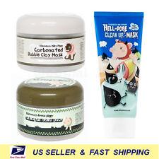 [ELIZAVECCA] Bubble Clay Mask+ Collagen Jella Pack+ Hell Pore Clean Up Mask 3pcs