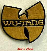 Wu Tang music yellow art badge Iron on Sew on Embroidered Patch